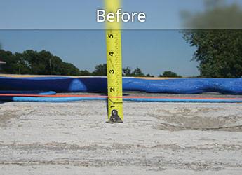 Before PolyLevel® highway repair